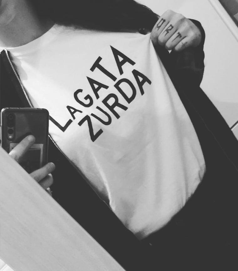 Camiseta La Gata Zurda Blanca