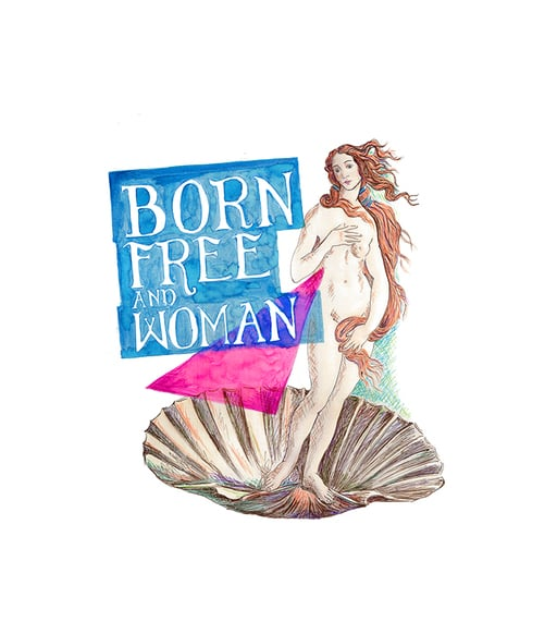 BORN FREE AND WOMAN
