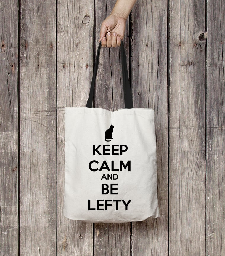 Bolsa Keep Calm and be Lefty