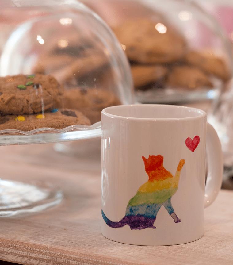 Taza Rainbow Cat
