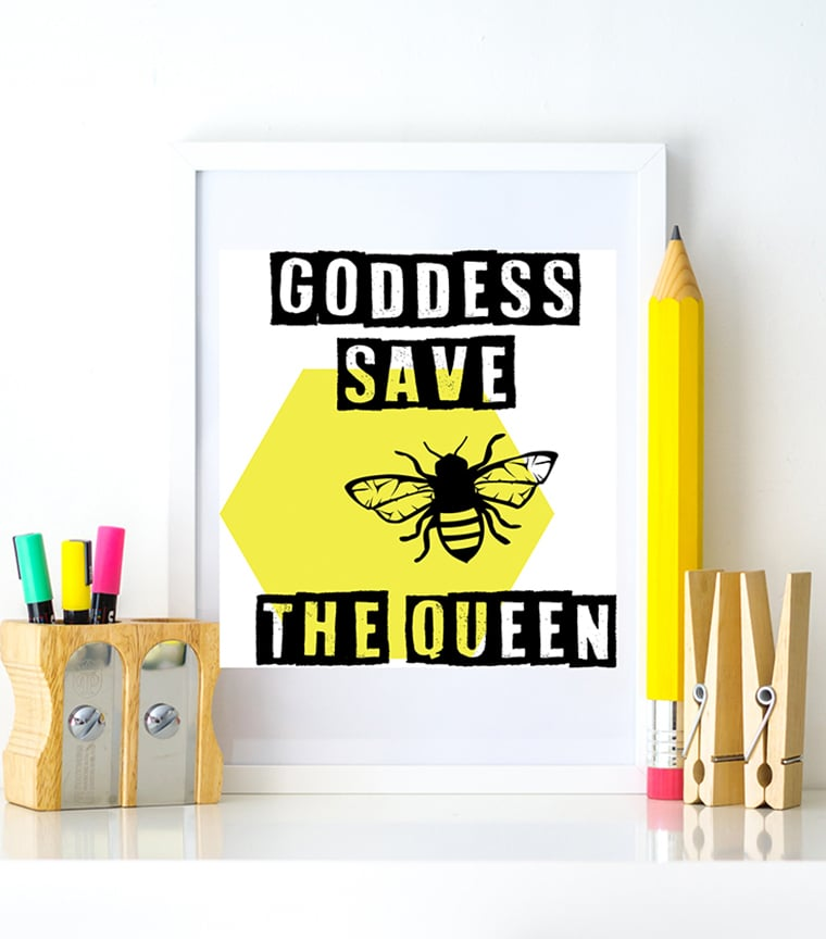 Poster Goddess Save The Queen