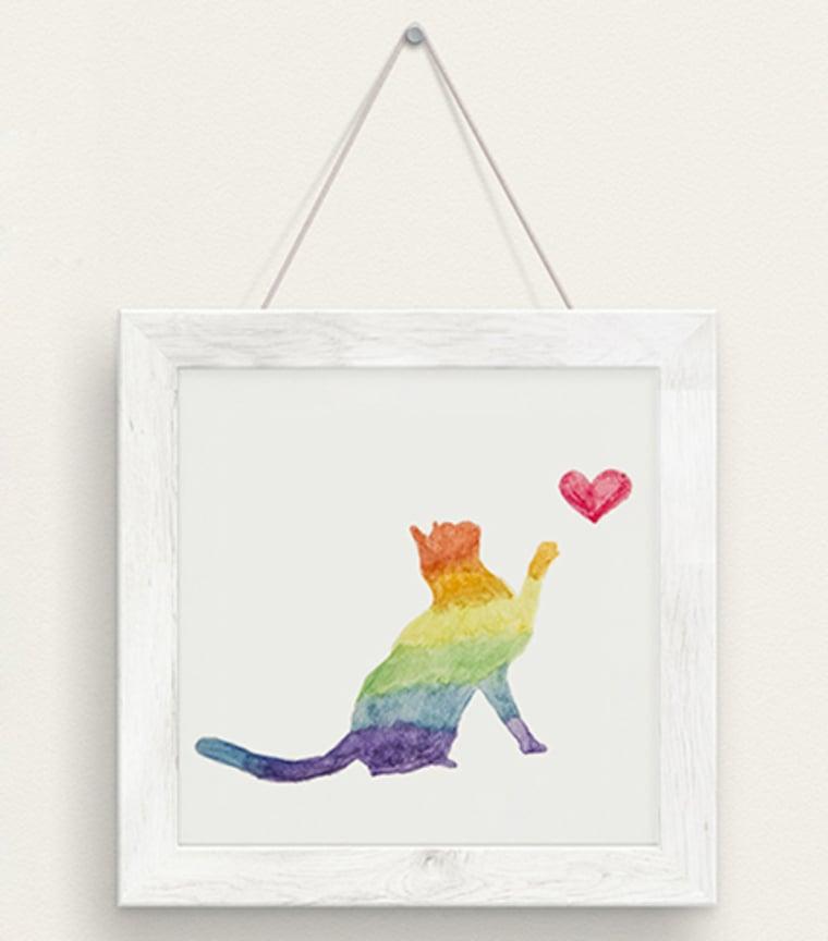 Poster Rainbow Cat